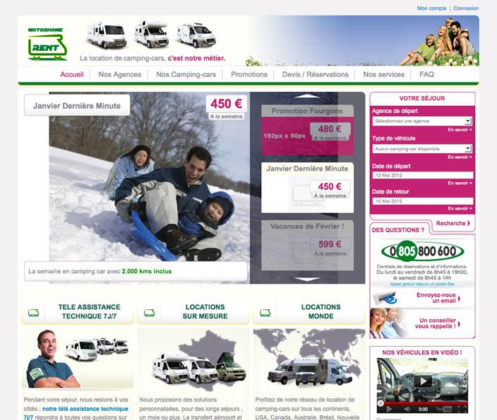 MotorHome Rent, un projet Magento